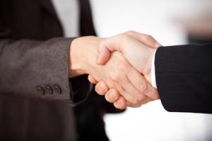 Business Handschlag